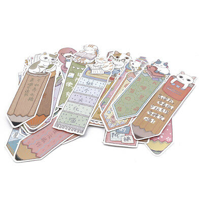 Paper Bookmark 30PCS Cute And Beautiful Antique Candy Hand-painted Bookmarks AG