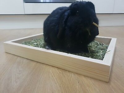 Rabbit Feeder Hay Meadow Manger Hutch Trough - First Fill of hay included