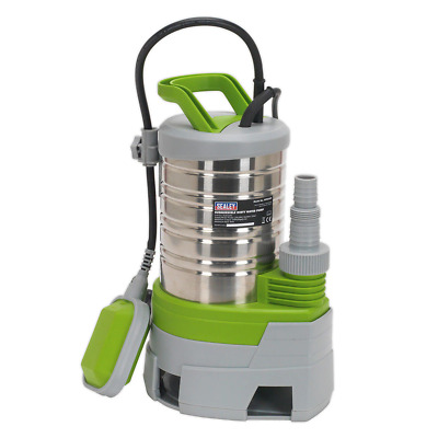 Sealey WPS225P Submersible Stainless Water Pump Automatic Dirty Water 225ltr/...