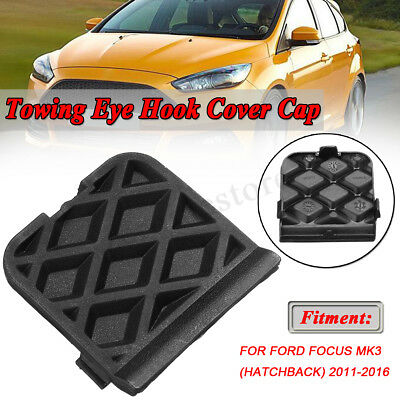 Black Tow Hook Cover Eye Cap Insert Rear Bumper For Ford Focus 2011-2016