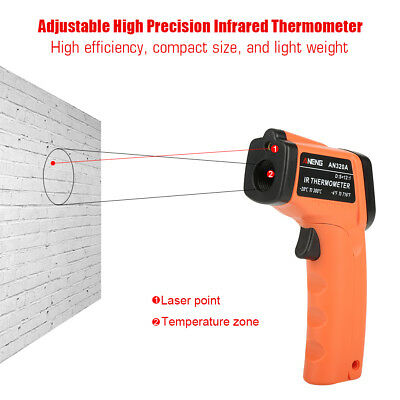 Infrared Thermometer Digit LCD Display Non-Contact IR Laser Temperature Gun fe