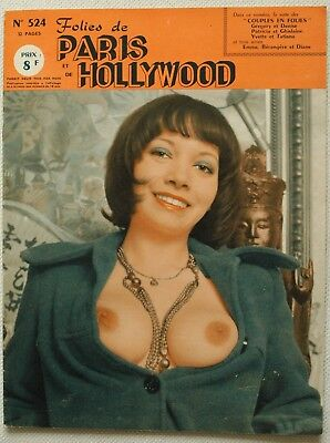 FOLIES DE PARIS ET DE HOLLYWOOD N° 524 - Pin-Up-Busen- Magazin-Erotik-Akt - 1973