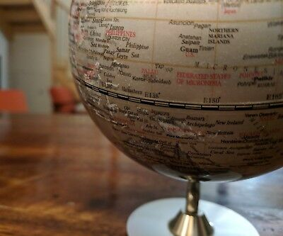 Silver World Map Globe