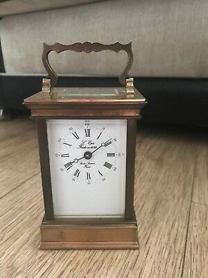 Vintage Antique Brass French L'EPEE Carriage Clock  - Working Order
