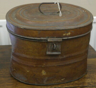 antique  large tin HAT BOX