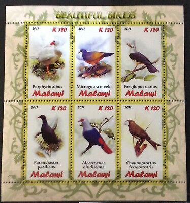 World Stamps Malawi 2011 1 Sheet Stamps Birds Mint (B6-217)