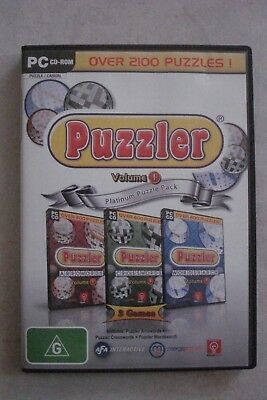 - Puzzler Volume 1 Platinum Puzzle Pack - 3 Games [Pc Cd-Rom] Brand New [27.75]