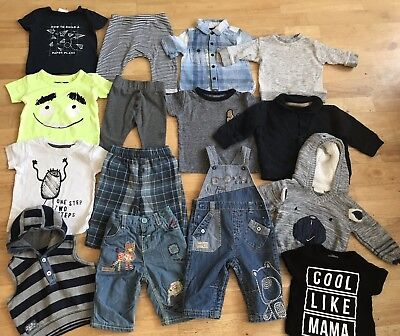 Baby boys bundle 3-6 months 100% Next free postage dungarees jeans jumper hoody