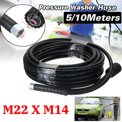 5800PSI High Pressure Power Washer Hose Jet Kit Washer Lance M14 X M22 Thread