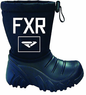 FXR Youth Kids SHREDDER WATERPROOF Black SNOW BOOTS -Size 1/2 - 2/3 -10/11-12/13
