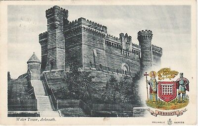 Old Postcard of The Water Tower, Arbroath 1905