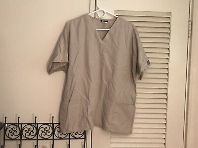 Tan Cherokee Workwear Scrub Top Size XL.  Free Shipping!!!
