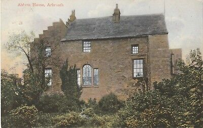 Old Postcard of The Abbot's House, Arbroath 1907