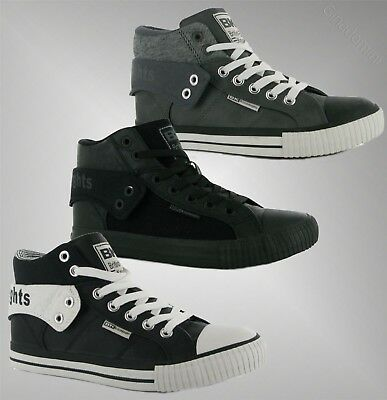 2c7544afcb5ef Mens Branded British Knights Roco Fold PU Hi Top Skate Shoes Trainers Size  7-13
