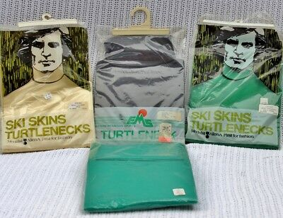 Lot of Four (4) Men's Vintage Turtleneck Shirts NIP LL Bean EMS Ski Skins NEW XL