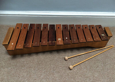 Quality Vintage Xylophone, Rosewood, English Made By New Era, Mint.
