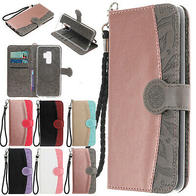 Leather Folio Wallet Stand Case Cover For Samsung Galaxy Note 9 S8 A6 J6 2018