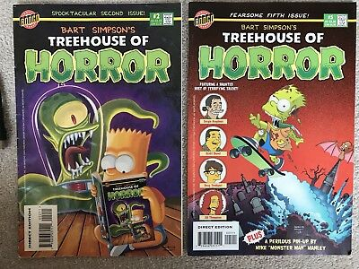 Bart Simpsons Treehouse of Horror #2 & #5: Bongo Comics : 1996 / 1999