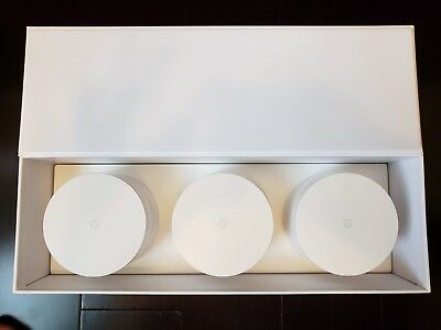 Google Home Wi-Fi System 3 Pack - AC1200 Dual Band Mesh System