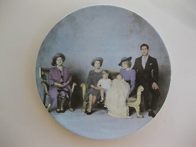 "British Royalty ""Four Generations"" Plate St. George Fine Bone China England"