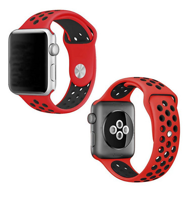 For Nike Sport Apple Watch Replacement Strap Band 42mm Red/Black Series 1 2 3 4