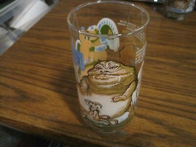Vintage 1983 Star Wars  Return Of The Jedi Burger King Coca-Cola Glass!  Jabba