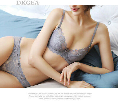 a4c1d2f901 Sexy Nonpadded Embroidery Push Up Bra and Knickers Floral Underwear Bra Sets