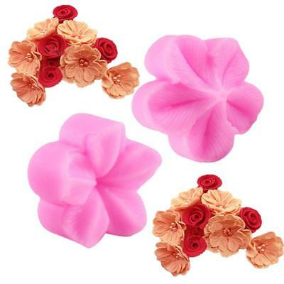 2Pcs 3D Flower Cake Fondant Decorating Silicone Chocolate Sugarcraft Mold 6A