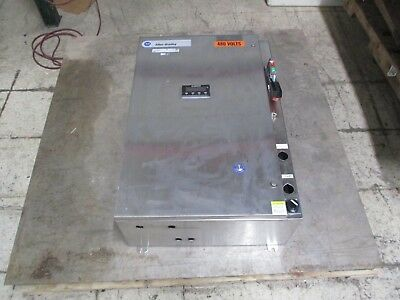 Allen-Bradley Stainless Steel 4X Size 1 Combination 120V Coil 480V 27A Used