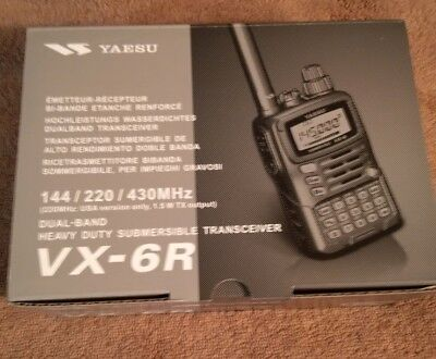 NEW - YAESU VX-6R Handheld Tri-Band 2M/222/440 Ham Radio -  FREE SHIPPING