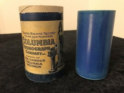 Antique Edison CYLINDER Phonograph RECORD 1911 Say Au Revoir But not Goodbye L1