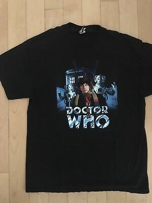 EARLY 2000s DOCTOR WHO TOM BAKER T SHIRT SIZE L