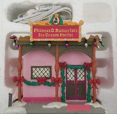Hawthorne Village Simpsons Christmas Phineas Q Butterfat's Ice Cream Parlor
