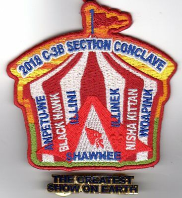 2018 Section C-3B Conclave Patch with Participation Pin
