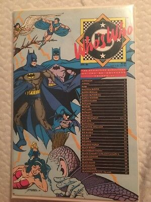 April 1985 DC Who's Who 1985 DC Comics C618