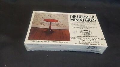 The House of  Miniatures ~ Chippendale Round Table ~ Kit 40074