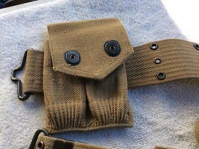 Minity MILLS WWI US Pistol Belt with Pouches