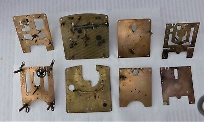 Collection Of Clock Movement Plates Etc For Spares/steam Punk/ Craft