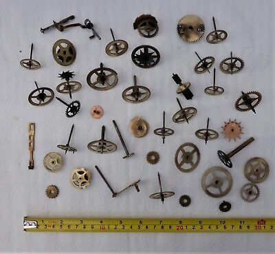 Collection Of Clock Gears Etc For Spares/steam Punk/ Craft