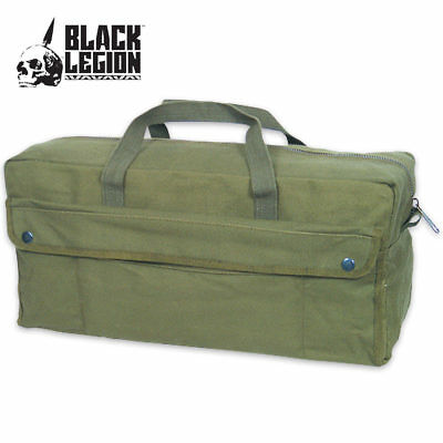 Government Issued Style Mechanics Heavy Duty Tool Bag Olive Drab Canvas Military