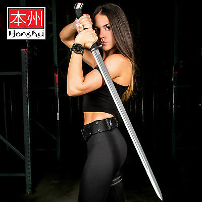 Full Tang Double Edge Katana Sword 1060 Carbon Steel Blade Samurai Battle Ready