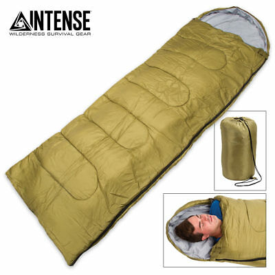 Lightweight Mummy Sleeping Bag Camping Backpacking Winter Cold Weather Compact