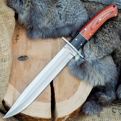 "14"" RidgeRunner Wood Hunting Skinning Survival Fixed Blade Full Tang Knife Bowie"