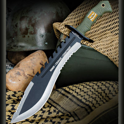 "17"" United Cutlery USMC Marines Kukri Fixed Blade Knife Bowie Machete w/ Sheath"