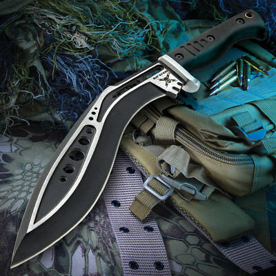 "16"" M48 Tactical Kukri Fixed Blade Knife Machete Bowie Hunting Full Tang Sheath"