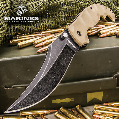 Usmc Tactical Assisted Clip Point Military Combat Folding Pocket Knife Marines