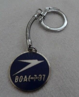 Vtg BOAC 707 ROOLS ROYCE KEYRING - PRE BRITISH AIRWAYS -NOT REPRODUCTION