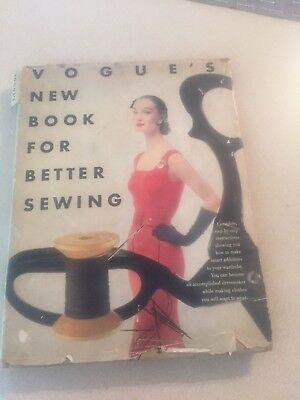 Vogue's New Book for Better Sewing ~ Vintage 1952 Hardcover First Printing