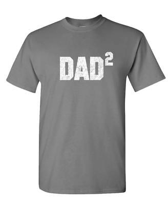DAD SQUARED grandfather fathers day paw - Unisex Cotton T-Shirt Tee Shirt