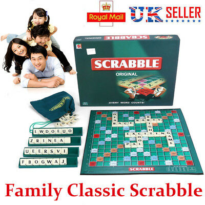 Quality Scrabble Board Game Family Letter Classic Gift Word Puzzle Kids Party Uk